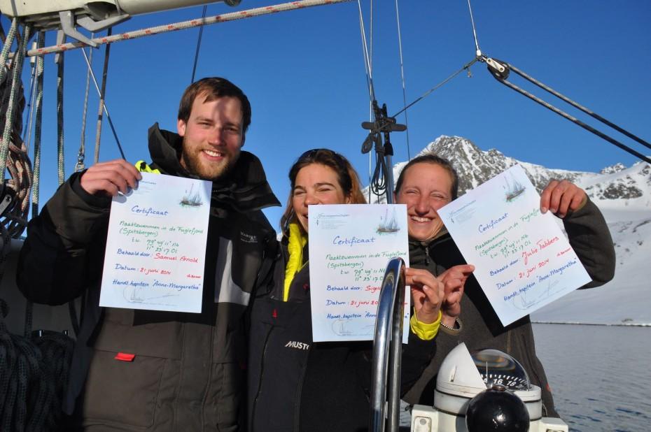 diploma naaktzwemmen spitsbergen