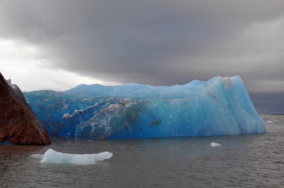 dark blue glacier Svalbard