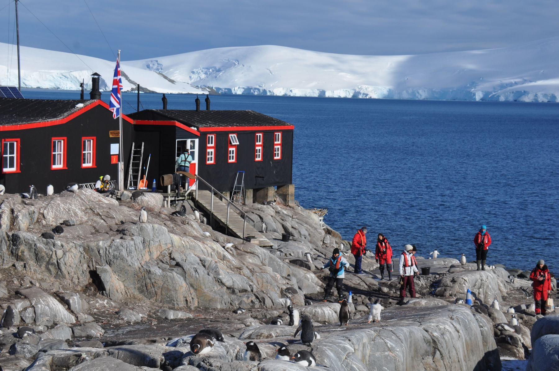 View on port lockroy antarctica anne margaretha sail for Port lockroy